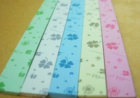 new arrival 1800 strips star folder paper,Four Leaf Cloverdesign luck star origami,free shipping wholesale