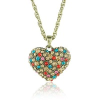 Free Shipping Heart Pendant Necklace Jewelry FN10137