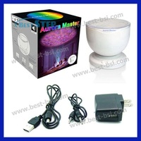 Free DHL UPS 30PCS Romantic Aurora Master Projector 7 Colorful LED Light Ocean Wave Projector Relaxing Night Light with Speaker