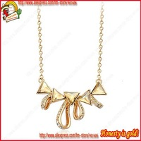 Free shipping++2012 NEW 18k white gold plated yellow Crystal Necklace,Classic Austria Crystal Necklace Jewelry