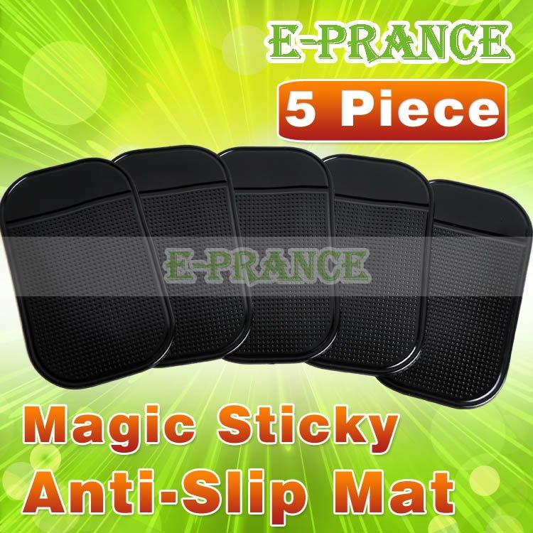 праздник 6 ПК мощный силикагель волшебный липкий коврик против скольжения мат для телефона pda mp3 mp4 автомобиль черного цвета