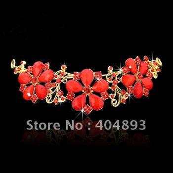 wedding/bridal flower crystal tiaras hairwear