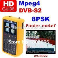 2012 free shipping HD mpeg4 DVB-S2 satellite finder meter  Satlink Digital Displaying Satellite Finder Meter satlink ws 6922