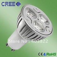 FREE SHIPPING  Dimmable CREE 3X3W GU10 LED Bulbs