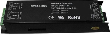 dmx constant current decoder,DC12-48V input,350ma*3 channel or 750ma*3channel output