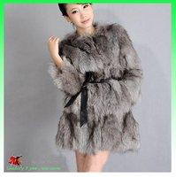 Женская одежда из кожи и замши 2012 new women's fur coat fur jacket outerwear High-quality fox fur leather coat Fox no collar shall vest