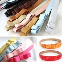 Wholesale woman Casual leather belt,lady  bow belt. Black and brown red, Hot sale !! Free shipping.10pcs/lot