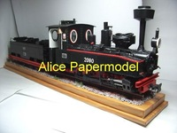 [Alice papermodel]1:25 Black Steam train vehicles car truck models