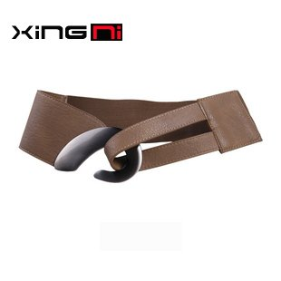 [ Ni ] Fashion Star girdle Ms. Wide belt Simple discount Decorative belt Wild girdle