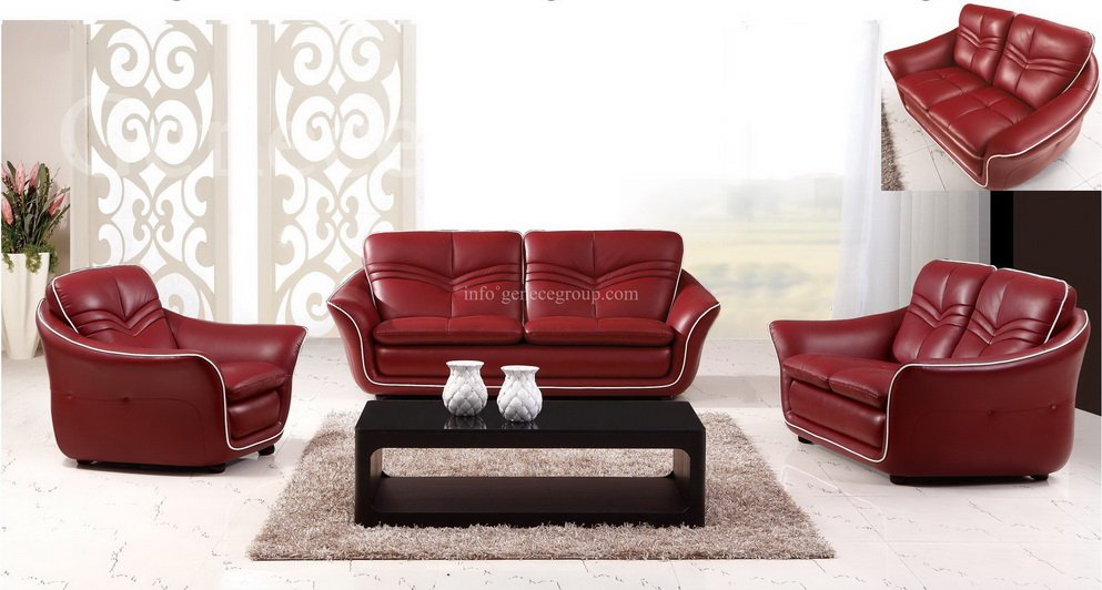 sofa set living room small sofa set half leather furniture