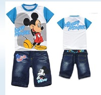 2012 children's/kid/kids/girls/boys  Summer  clothes/clothing t shirt shirts t-shirt t-shirts +pants 2 pcs set  WJX AL0512