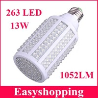 High quality LED Bulb E27 13W 220V 1052LM 263LED  Warm White LED Corn Light Bulb Lamp free shipping