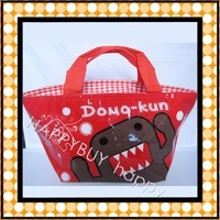 Free Shipping Domo Kun Cartoon Anime Lunchbag Carry Tote Bag Handbags