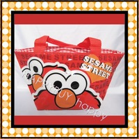 Free Shipping ELMO sesame street Cartoon Anime Lunchbag Carry Tote Bag Handbags