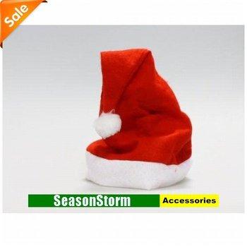 [CPAP Free Shipping] Wholesale Non-Woven Cloth Christmas Cap / Santa Claus Xmas Hat 250pcs/lot (SE-28P)