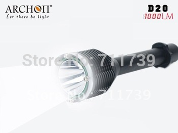 ARCHON D20 CREE XM-L T6 LED Diving Flashlight Dive Torch