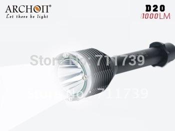 ARCHON D20 CREE XM-L T6 LED Diving Flashlight Dive Torch