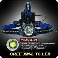 1Set NEW Design 4x AA Headlamp 12W 1200Lm CREE XML XM-L T6 LED HeadLight 3 Mode Waterproof Headlamp ZOOMABLE Hiking HeadLamp