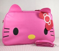 10pcs/lot Wholesale Hello Kitty big handbag/travel bag/luggage bag,head-shaped,big Messenger Bag,CF_G068