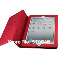 New Folio Stand Back Holder Lichi Skin Luxury Leather Case Cover For Apple ipad2 ipad 2 3 4 +Free/Drop Shipping