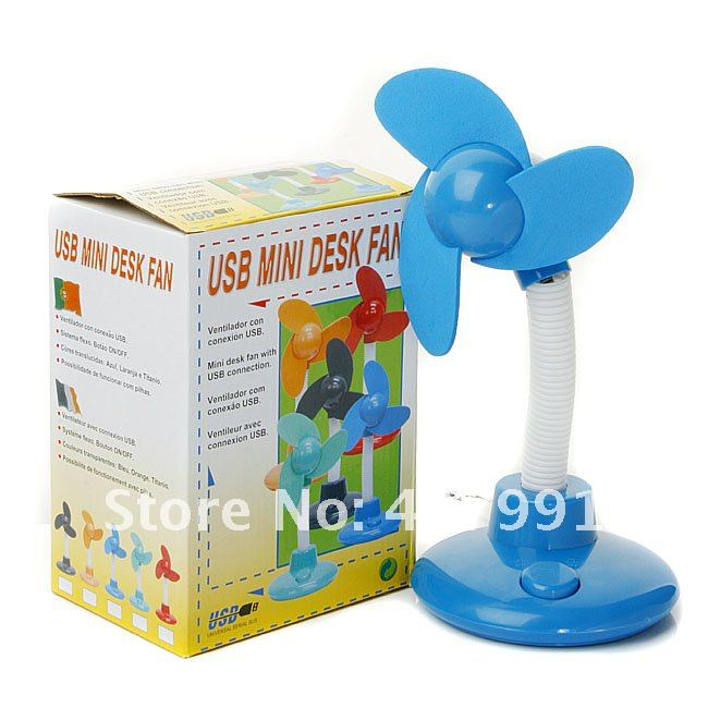 2012 Fashion Mini Desktop Portable USB Fan Power PC Laptop cooler adjustable electronic flexible Fan Desk MAC Free shipping(China (Mainland))