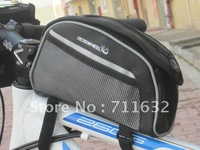 New Bike Bicycle Cycling Frame Pannier Front Tube Bag Waterproof Grey