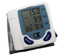 Digital Wrist/arm/cuff Blood Pressure Monitor Heart Beat Meter Sphygmomanometer(China (Mainland))