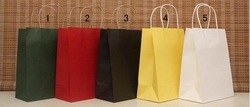 wholesale!Free shipping 15 Style Fashion Hand Length Handle Paper Bag 27*21*11cm (50pcs/lot)(China (Mainland))