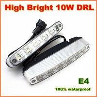 High Power 10W  LED daytime running light  metal housing  E4 DRL LED car driving fog Light Lamp 1 year warranty