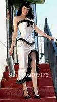 Custom Black Lace  Elegant White Wedding Corset Dress Outfit