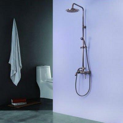 EMS Free Shipping Double Shower Single Handle Rainfall Bathroom Shower Faucet