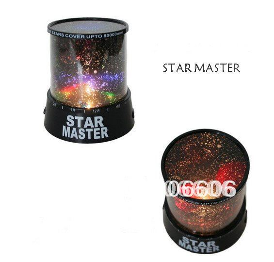 Free shipping new novelty items new amazing LED star master light star projector led night light+USB line(B09-01-02)