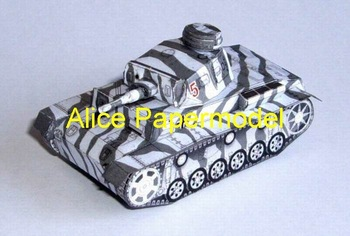 [Alice papermodel]1:72 1:48 1:33 WWII sms Panzer 3tank armored vehicles truck car jeep models