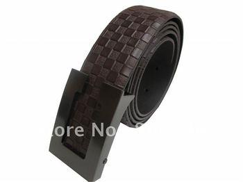 Wholesale Mens Belts Carbon Steel Buckle Leather Belts for Men colour Brown long 105 N2102