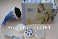 Free shiping 10pcs 3 head Magic Wand Body Massager Massage,Handheld relax spin tone1786 US Plug 100-120V 2574 220-250V(EU Plug