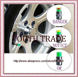 car auto Ensure your safety Tire air pressure alert Monitoring check warning valve cap simple ,free shipping(China (Mainland))