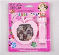 Nail Art Stamping Set Stamping Nail Art Kit Nail Stamps + Scrapers+2pcs Image Plate+holder