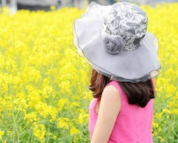 summer travel prevent Ultraviolet ray lady hat Han edition Bud silk flowers Prevent bask in sunbonnet Sun hat Big along the cap(China (Mainland))