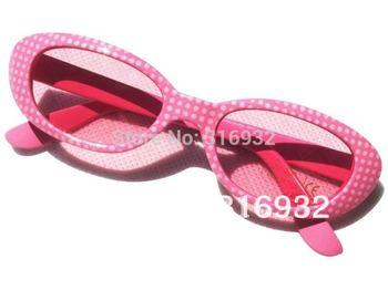 New! High quality, pink kid's sun glasses, 3pcs/lot