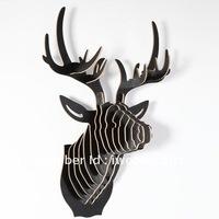 DHL Free Shipping! Black Bucks Head deer head Lobby Decoration, Amazing Black Home Decoration
