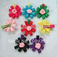 Fashion Cute PrincessFlower Hair Clips  headwear hair accessories hairbands mix color  free shipping 099#