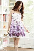 Free shipping Drop shipping fashion dress Bohemia flavor chiffon maxi dress
