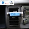 HOT SELLING CAR ACCESSORY! Digtal Clock LCD Display Black NEW Barrel Shaped LCD Digital Car Clock Calender