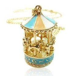 Min.order is $10 (mix order) New Korea Pop Carousel Pendant Nice Necklace HOT NJ-0092(China (Mainland))
