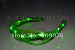 Free shipping 144pcs/lot 3mode red blue green led flash glasses glow glasses for party favors(China (Mainland))