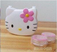 Hot!10pcs/lot Hello kitty Contact Lens Case Lenses Box free shipping