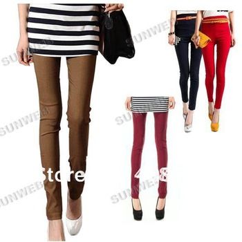Fashion Sexy 2012 New Korean thin cotton Flexible Leggings Stretchy Pencil Pants/Trousers 4 Colors free shipping 3720