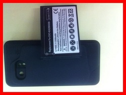For HTC DROID INCREDIBLE 6300 3500mah Extended Li-ion Battery with Back Cover 10pcs/lot Free shipping(China (Mainland))