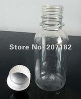 Free shipping (100sets/lot) 100ml PET transparent round bottle with safety cap,sample bottle,liquid bottle,plastic bottle