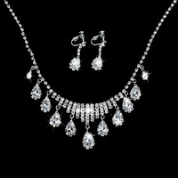 Best selling The bride necklace earrings married decorated bride sets